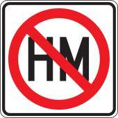 - Truck Restriction Sign: Hazardous Material Prohibition