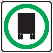 - Truck Restriction Sign: National Network Route