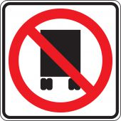 - Truck Restriction Sign: National Network Prohibited