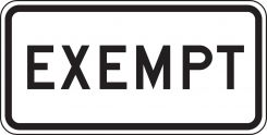 - Rail Sign: Exempt