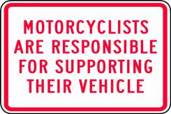 - MOTORCYCLE SIGN