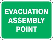 evacuation - Safety Sign: Evacuation Assembly Point