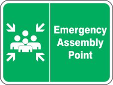 evacuation - Safety Sign: Emergency Assembly Point (Graphic)