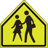 - Fluorescent Yellow-Green Sign: School Zone
