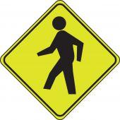 - Fluorescent Yellow-Green Sign: Pedestrian Crossing