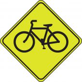 - Fluorescent Yellow-Green Sign: Bicycle Crossing