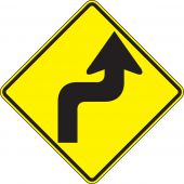 - Direction Sign: Right Reverse Turn