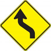 - Direction Sign: Left Reverse Curve
