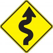 - Direction Sign: Right Winding Road