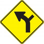 - Direction Sign: Left Curve (Intersection)