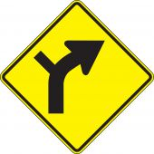 - Direction Sign: Right Curve (Intersection)