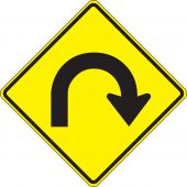 - Direction Sign: Hairpin Curve
