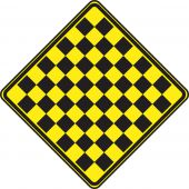 - WARNING SIGN - CHECKERBOARD