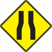 - TRAFFIC SIGN - LANE NARROWS