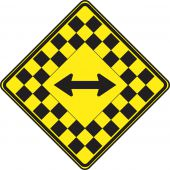 - WARNING SIGN - DOUBLE ARROW