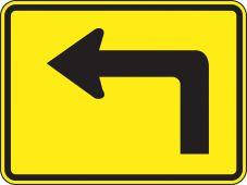 - Direction Sign: Left Advance Arrow (Plaque)
