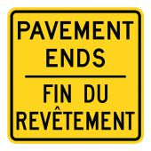 - WARNING SIGN - PAVEMENT