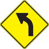 - Direction Sign: Left Curve