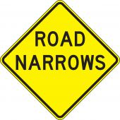 - Lane Guidance Sign: Road Narrows