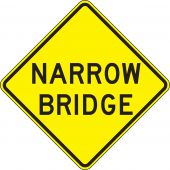 - Lane Guidance Sign: Narrow Bridge
