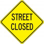 - Lane Guidance Sign: Street Closed