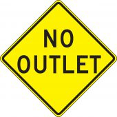 - Lane Guidance Sign: No Outlet