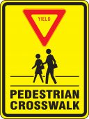 - Bicycle & Pedestrian Sign: Yield - Pedestrian Crosswalk