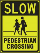 - Fluorescent Yellow-Green Sign: Slow - Pedestrian Crossing