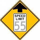 - Semi-Custom Speed Limit Sign: Speed Limit Ahead _