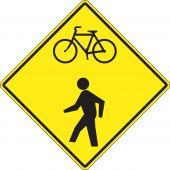 - Bicycle & Pedestrian Sign: Bicycle/Pedestrian Warning