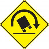 - Surface & Driving Conditions Sign: Truck Rollover Warning