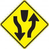- Lane Guidance Sign: Divided Highway (Symbol)