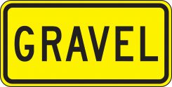 - Surface & Driving Conditions Sign: Gravel