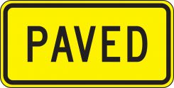 - Surface & Driving Conditions Sign: Paved