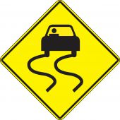 - Surface & Driving Conditions Sign: Slippery When Wet (Symbol)