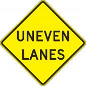 - Surface & Driving Conditions Sign: Uneven Lanes