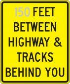 - Semi-Custom Rail Road: _ Feet Between Highway & Tracks Behind You