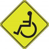 - Fluorescent Yellow-Green Sign: Wheelchair Crossing