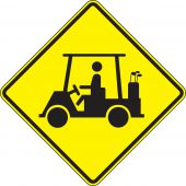 - Crossing Sign: Golf Cart