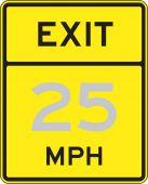 - Semi-Custom Speed Limit Sign: Exit - _ MPH