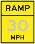 - Speed Limit Sign: Ramp - _ MPH
