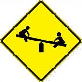 - Fluorescent Yellow-Green Sign: Playground