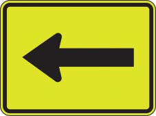 - Fluorescent Yellow-Green Sign: Supplemental Arrow (Plaque)