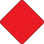 - Object Markers: Type 4 - End Of Roadway (Red On Red)