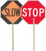 - Paddle Signs: 24-in. Reflective Aluminum