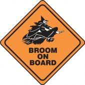 - Halloween Signs: Broom On Board