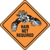 - Halloween Signs: Hair Net Required