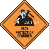 - Halloween Signs: Caution - Neck Protection Required