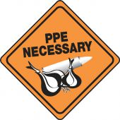 - Halloween Signs: PPE Necessary