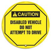 - ANSI Caution Safety Steering Wheel Cover: Disabled Vehicle Do Not Attempt To Drive